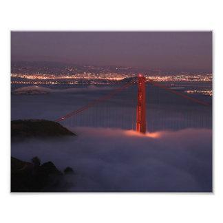Golden Gate Covered in Fog Photo