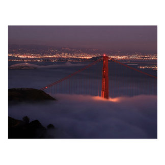 Golden Gate Covered in Fog Postcard