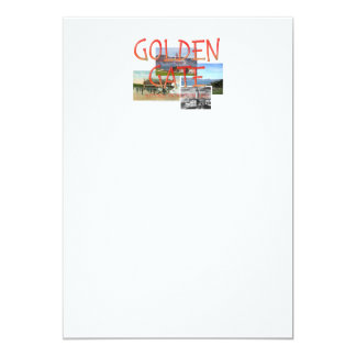 """Golden Gate de ABH Invitación 5"""" X 7"""""""
