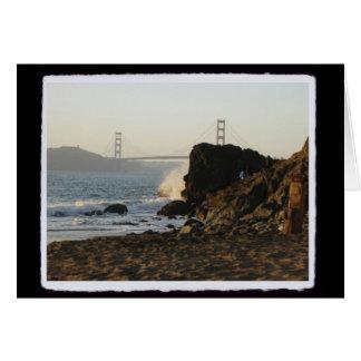 Golden Gate de la playa de China Felicitación
