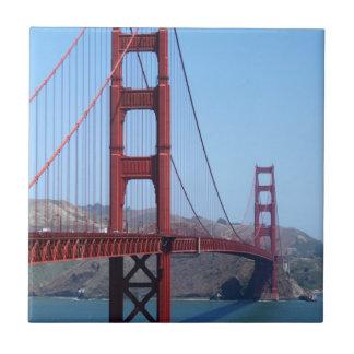 Golden Gate de San Francisco Azulejo Cuadrado Pequeño