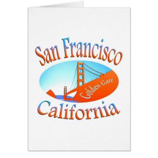 Golden Gate de San Francisco Tarjeta Pequeña