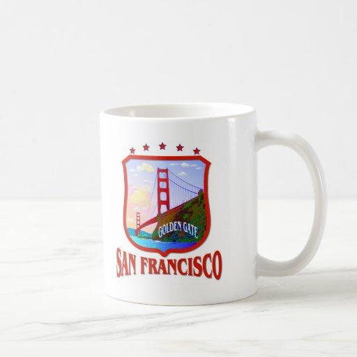 Golden Gate de San Francisco Taza Básica Blanca
