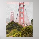 Golden Gate en Oil Poster
