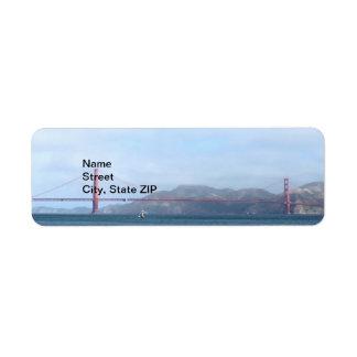 Golden Gate Etiqueta De Remitente