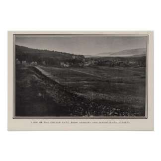 Golden Gate from Ashbury & 17th streets Print