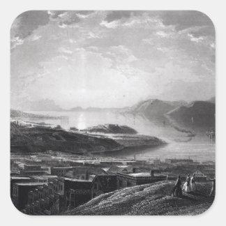 Golden Gate, from Telegraph Hill Square Sticker