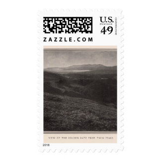Golden Gate from Twin Peaks Postage Stamp