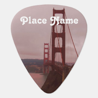 Golden Gate Guitar Pick