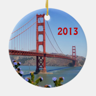 Golden Gate Holiday Ornament