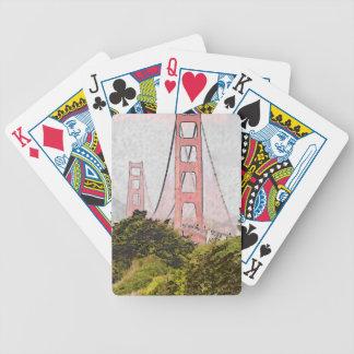 Golden Gate in oil Poker Deck