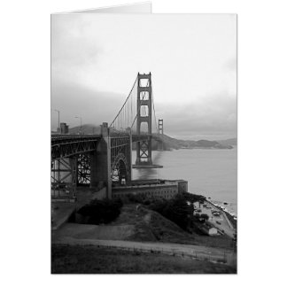Golden Gate in the Mist ~ Greeting Card