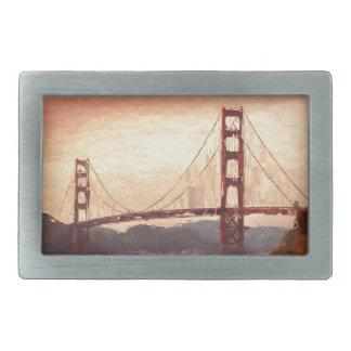 Golden Gate Inspiration Rectangular Belt Buckle