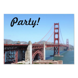 """Golden Gate Invitación 5"""" X 7"""""""