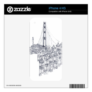 Golden Gate iPhone 4S Decal