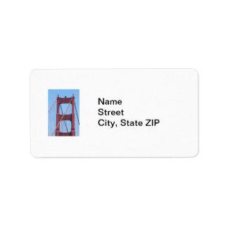 Golden Gate Address Label