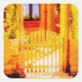 Golden Gate of Light Square Sticker