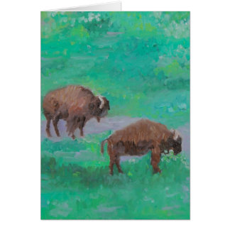 Golden Gate Park Buffalo Card