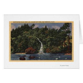 Golden Gate Park, caídas del lago stow, Huntington Tarjeta De Felicitación