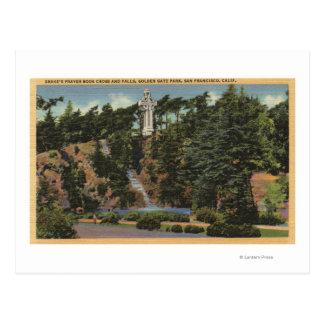 Golden Gate Park, Drake's Cross & Falls Postcard
