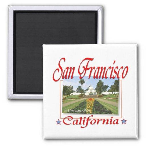 Golden Gate Park San Francisco 2 Inch Square Magnet
