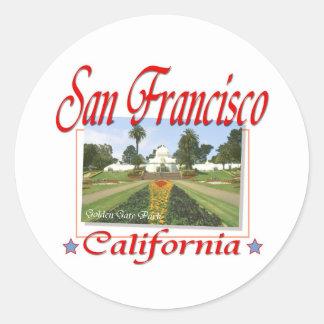 Golden Gate Park San Francisco Etiqueta Redonda