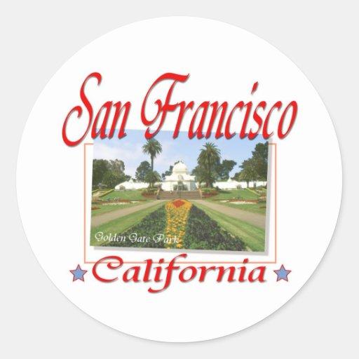 Golden Gate Park San Francisco Round Sticker