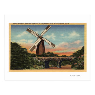 Golden Gate Park, the Dutch Windmill Postcard