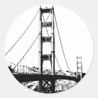 Golden Gate Pegatina Redonda