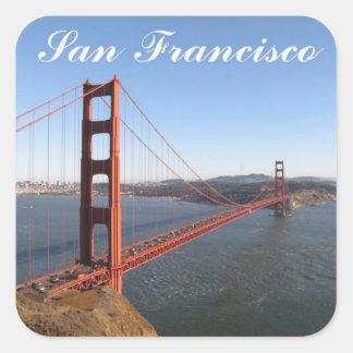 Golden Gate, pegatinas de San Francisco Pegatina Cuadrada