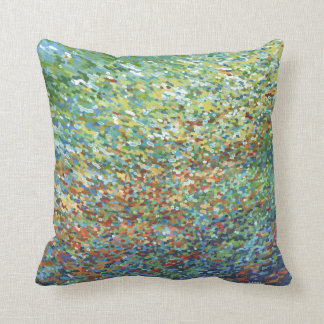 Golden Gate Red Orange Blue Green Pillow by Juul