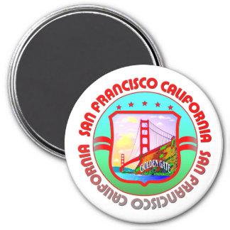 Golden Gate San Francisco 3 Inch Round Magnet