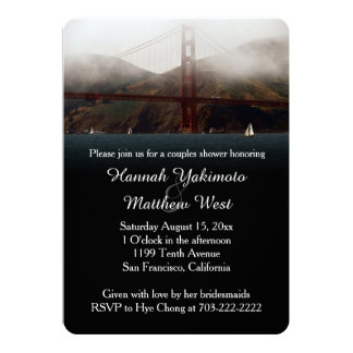 Golden Gate San Francisco Couples Shower Invite