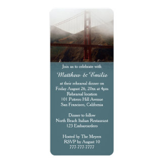 Golden Gate San Francisco Rehearsal Dinner Personalized Invitations