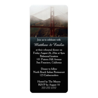 Golden Gate San Francisco Rehearsal Dinner Personalized Announcements