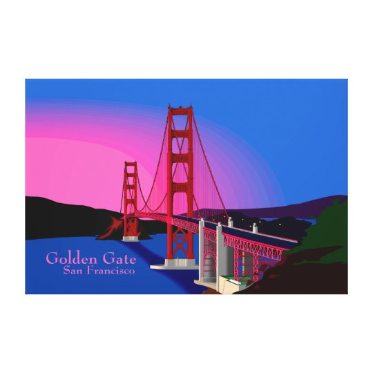 Golden Gate San Francisco  Wrapped Canvas