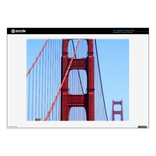 Golden Gate Laptop Decal