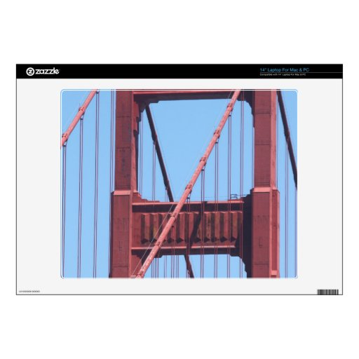 "Golden Gate 14"" Laptop Decal"