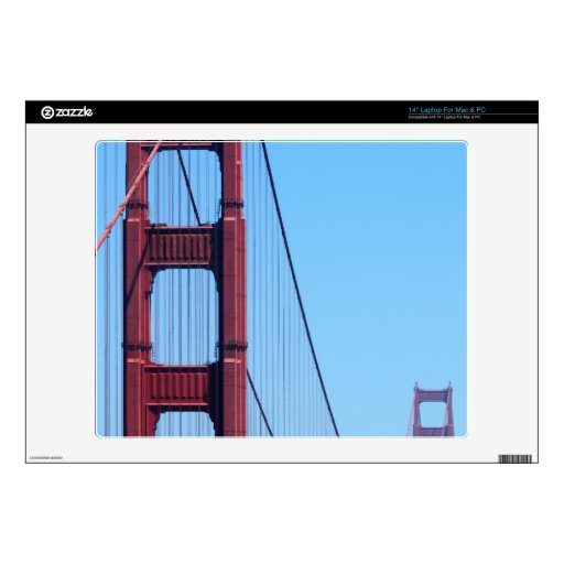 "Golden Gate Skin For 14"" Laptop"