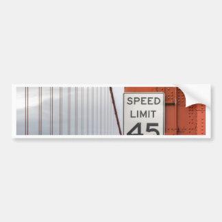 golden gate speed limit bumper sticker