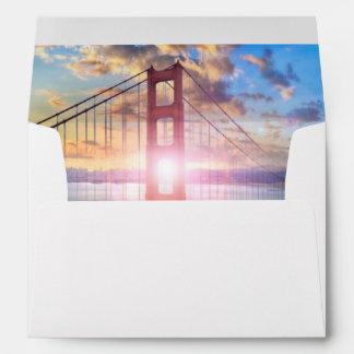 Golden Gate Sunrise Envelope