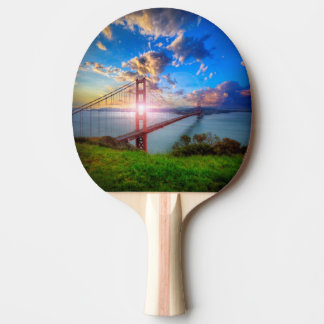 Golden Gate Sunrise Ping-Pong Paddle