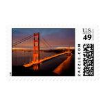 Golden Gate Sunrise Postage Stamp