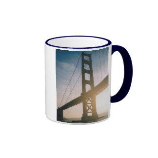 Golden Gate Sunset Ringer Coffee Mug