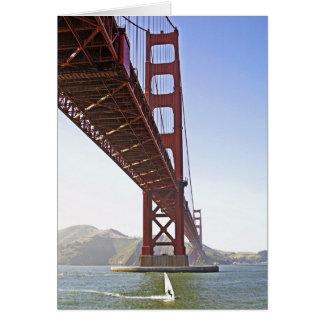 Golden Gate Surfer Greeting Card