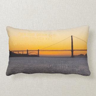 Golden Gate Twilight Lumbar Pillow