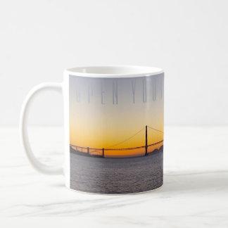 Golden Gate Twilight (text) mug