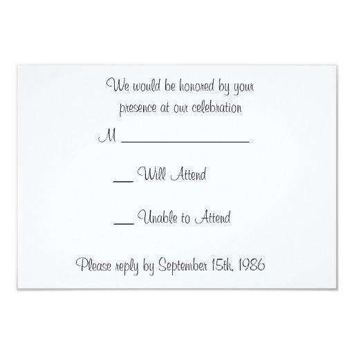 "Golden Gate with Orange Flowers Wedding RSVP Cards 3.5"" X 5"" Invitation Card"