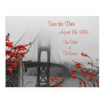 Golden Gate with Orange Save the Date Postcard
