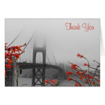 Golden Gate with Orange Wedding Thank You Cards